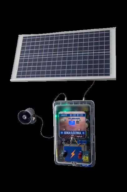 Impulsor Cerca Eléctrica Perimetral Solar y 110V AC
