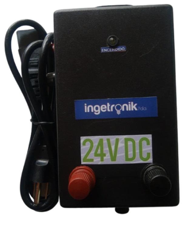 Transformador o Cargador entrada 110V AC, salida 24V DC regulada
